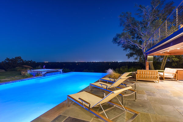 custom pool with a view, sacramento