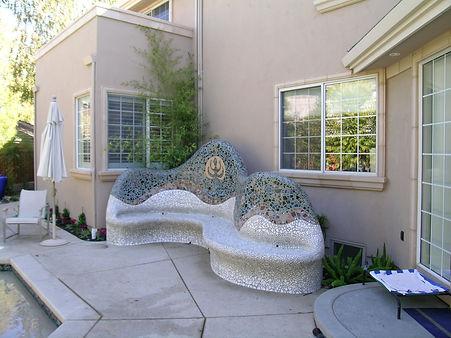Custom mosaic bench, sacramento