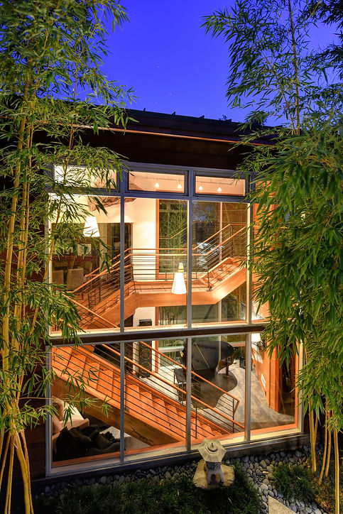 outdoor view of custom staircase, sacramento
