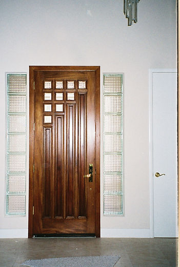 cutom modern door, sacramento