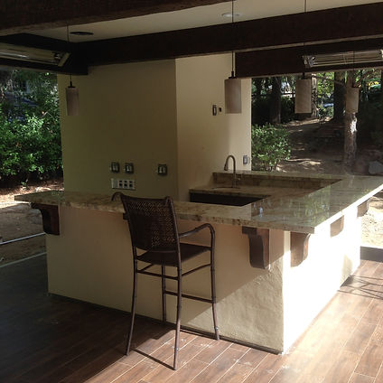 custom outdoor living, patio, bar, sacramento