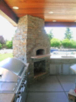 custom outdoor fireplace, pizza oven, sacramento