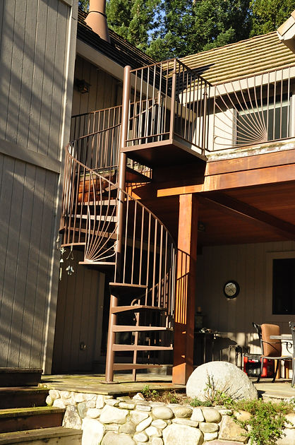 custom otdoor spiral staircase