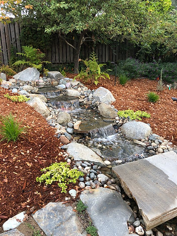 custom water fall landscape