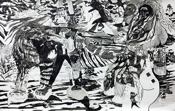 The wedding, 2017, indian ink on paper,