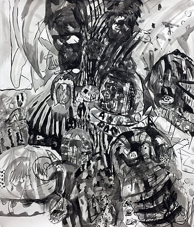 Untiled, 2017, indian ink, 170 x 150 cms