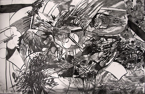 Untitled, 2014, charcoal on paper, 100 x
