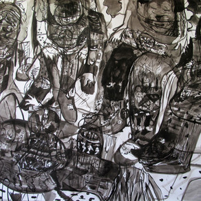Untitled, 2017, indian ink, 180 x 150 cm