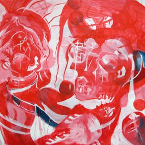 190 x 160 cms; Untitled; 2016; Acrylic o