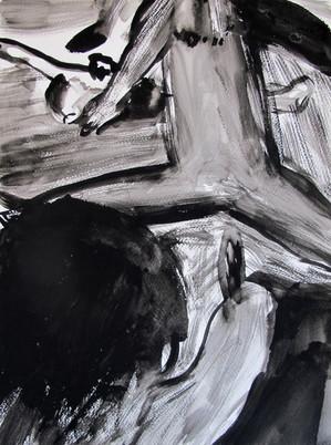 40 x 30 cms; Untitled; 2015; Gouache on