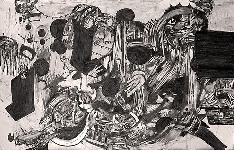 150 x 100 cms; Untitled; 2014; Charcoal