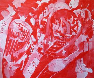 Luis Almeida red painting 2016