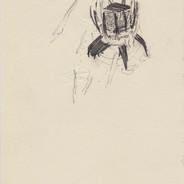 Bubble ascension, 2016, pencil on paper,