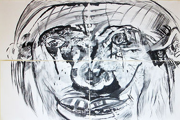 Luis Almeida charcoal drawing