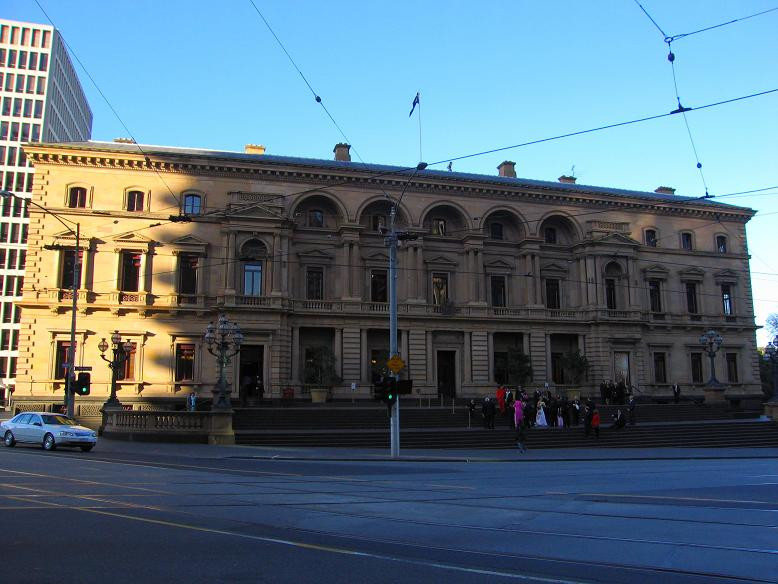 The Treasury building Melbourne