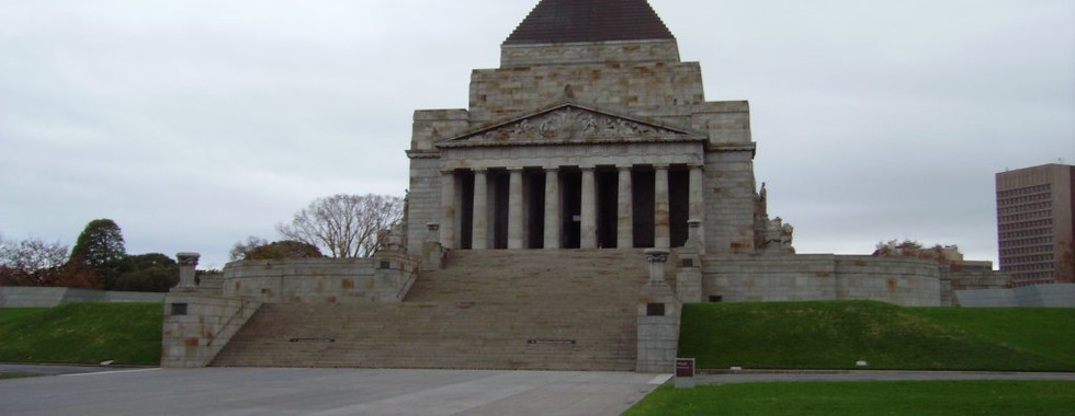 The shrine of Remembrance Melbourne