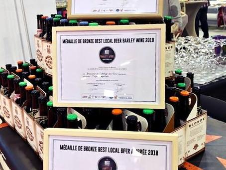 "Médailles ""Best Local Beer"""