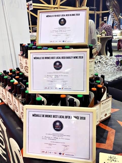 Médailles Best Local Beer Abbaye des Rocs