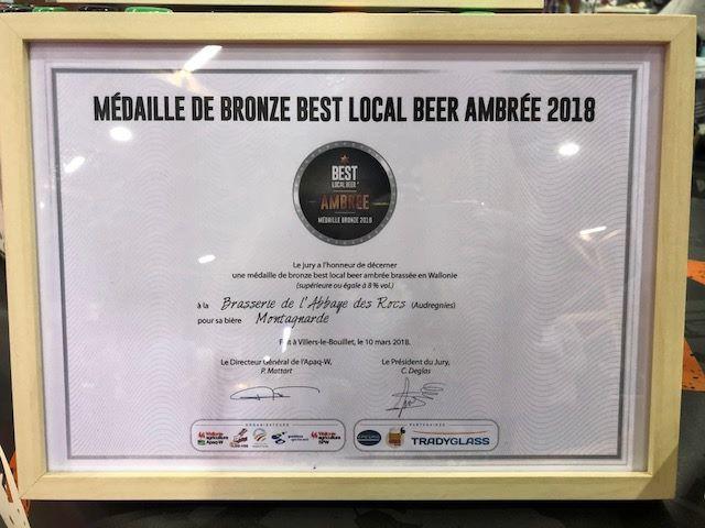 Médaille de Bronze Best Local Beer Ambrée pour la Montagnarde