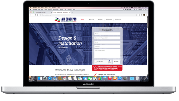 Air Concepts Website
