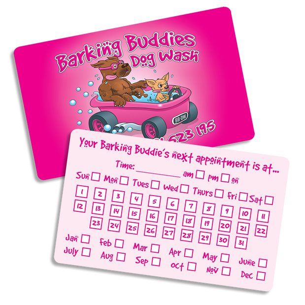 Barking Buddies Appointment Cards