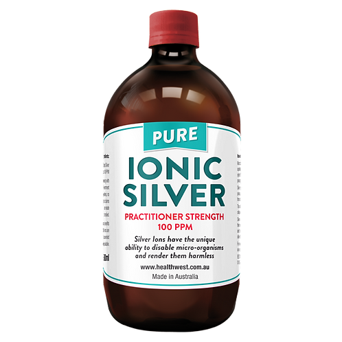 HealthWest Ionic Silver Practitioner Strength 100ppm