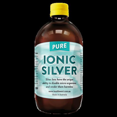 HealthWest Ionic Silver Glass Bottle
