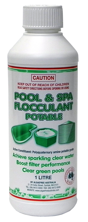 POOL & SPA FLOCCULANT POTABLE 1L - Including Express Postage