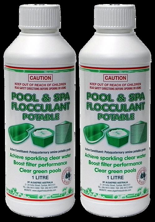 2 x POOL & SPA FLOCCULANT 2L (2X1L Bottles) - Including Express Postage