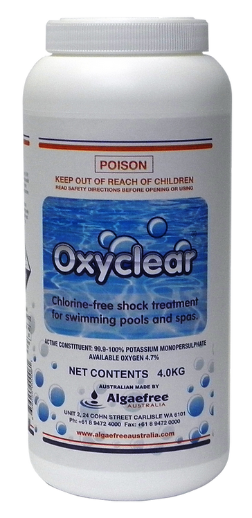 1 x OXYCLEAR OXYGEN SHOCK 4kg - Including Standard Postage