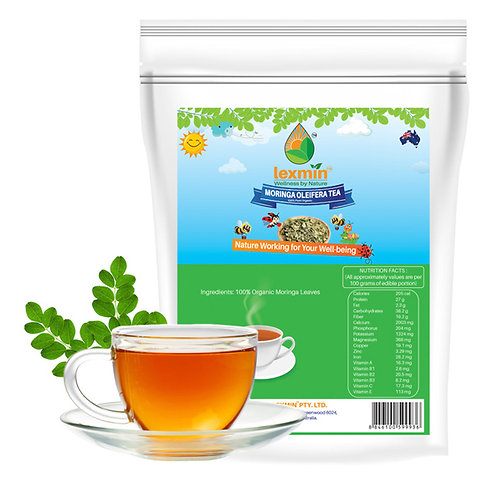 Lexmin Organic Moringa Leaf Tea (caffeine free) 30 teabags