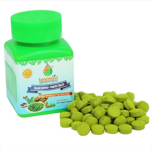 Lexmin Organic Moringa Leaf and Turmeric Tablets