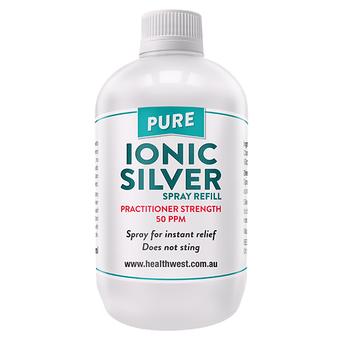 HealthWest Pure Ionic Silver 50ppm Spray Refill
