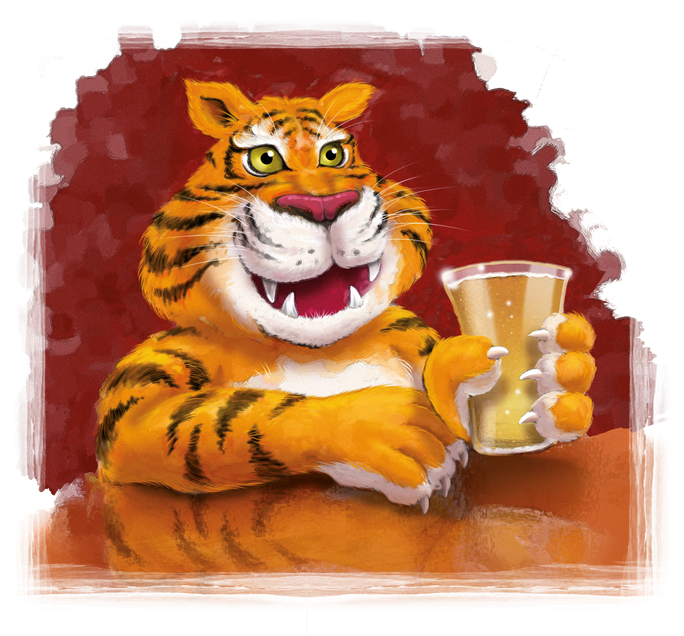 Ginger Tiger Illustration