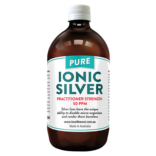 HealthWest Ionic Silver Practitioner Strength 50ppm