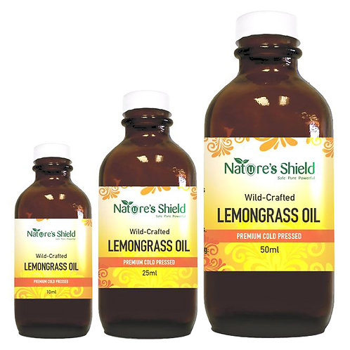 100% Wild Crafted Lemongrass Oil - 25ml