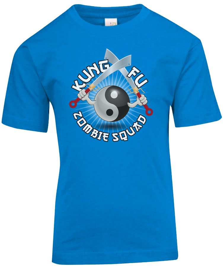 Kung Fu Zombie Squad Tee Design