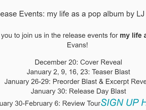 Release News! my life as a pop album