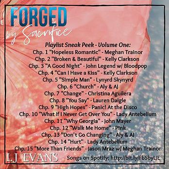 Forged by Sacrifice Playlist Sneak Peek