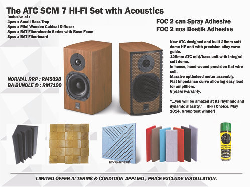 ATC SCM 7 Hi-Fi Set with Acoustic Treatment