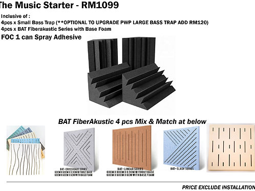 The Music Starter Acoustic Treatment Pack
