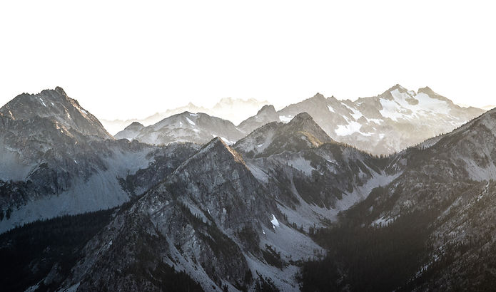 black and white snow covered mountain range