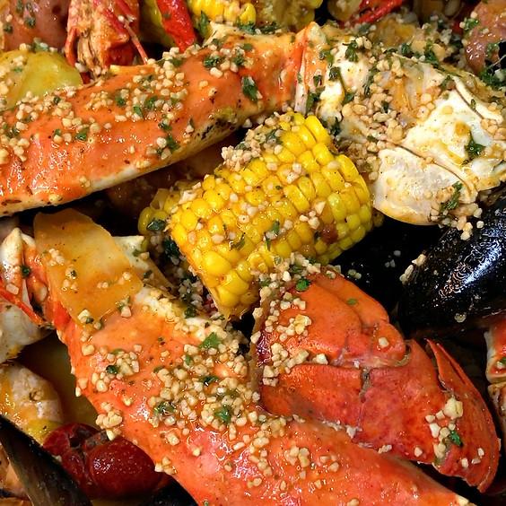 Seafood Boil at Silver Springs Farm Eqwine & Vineyard