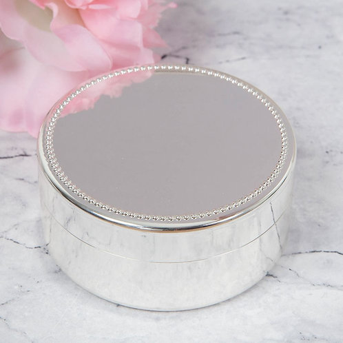 Silverplated Round Trinket Box from Shire County Silverware | Luxury Gift Box