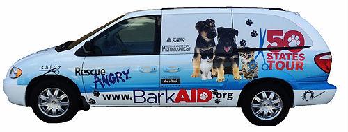 BarkAID North American Tour 2018 Van Image