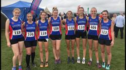 Ladies team at Sussex XC in Goodwood