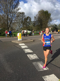 Our very own Stacey Clusker who ran