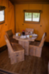 Swallows Oast Glamping - Indoor Dining