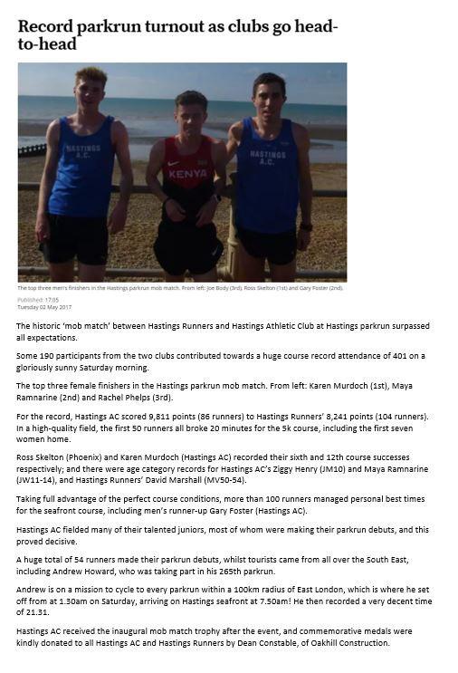 Hastings Athletic Club Park Run