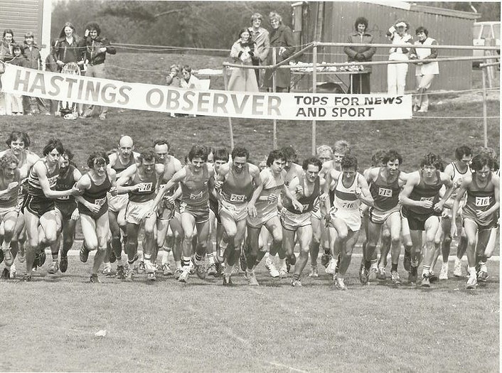 Hastings Observer Sports Day 1979 Derek Stevens and Steve Ovett